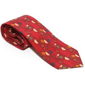 Frank Lloyd Wright Red Confetti Coonley Silk Tie